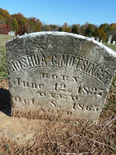 Joshua G Motsinger tombstone