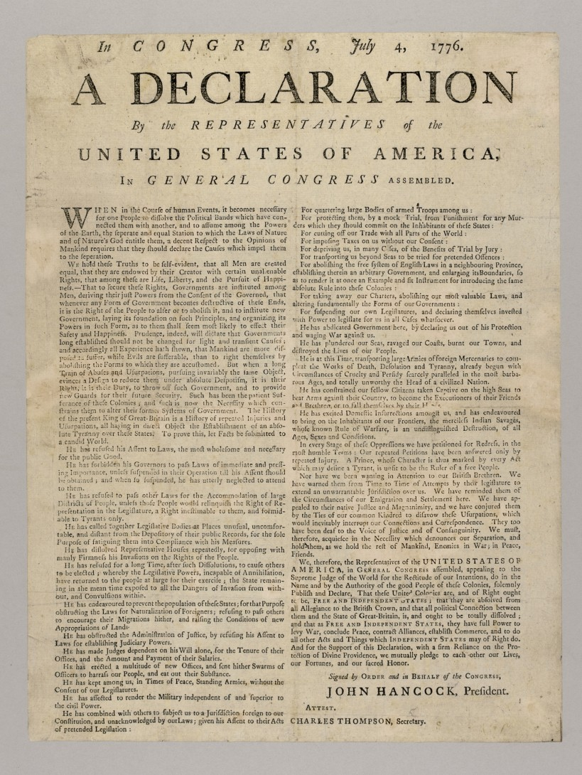 Declaration-of-Independence-broadside-1776-Jamestown-Yorktown-Foundation