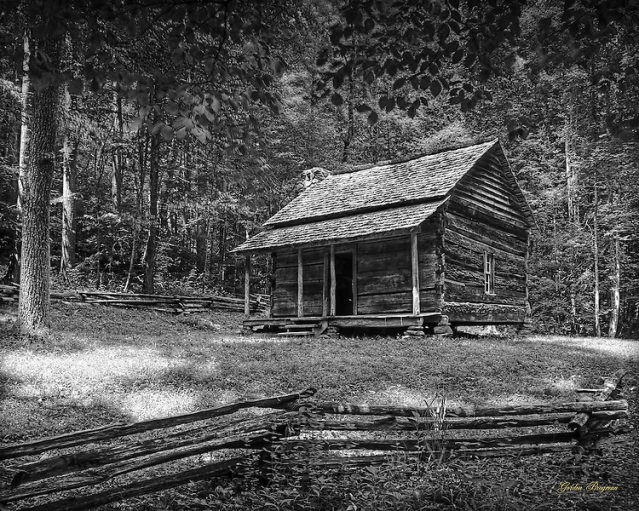 Cabin-In-The-ClearingBW