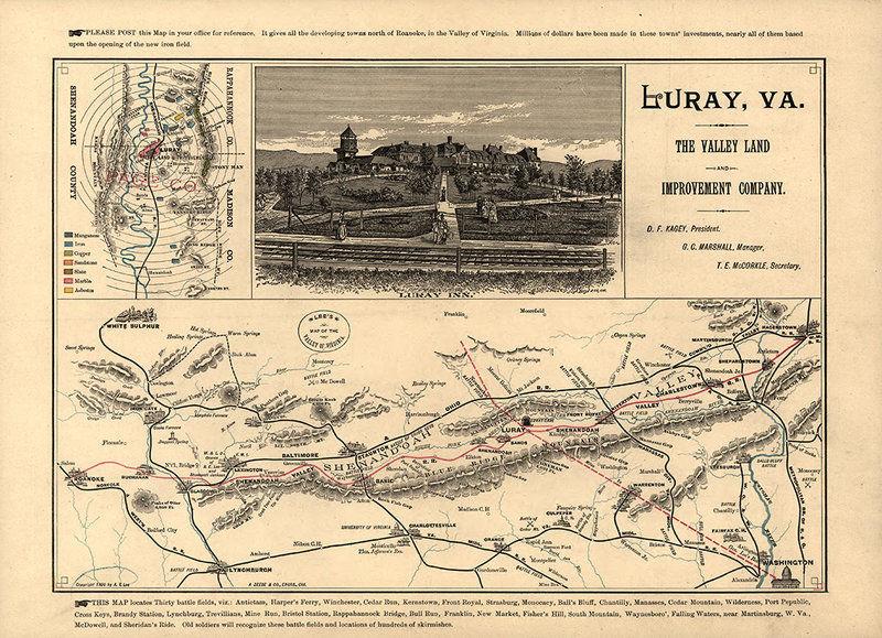 Shenandoah River Valley Map